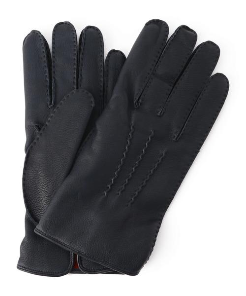 DENTS(デンツ)の「DENTS / ヘアシープカシミアライニンググローブ(手袋)」 ネイビー