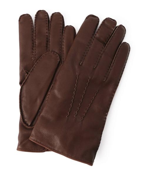 DENTS(デンツ)の「DENTS / ヘアシープカシミアライニンググローブ(手袋)」 ブラウン