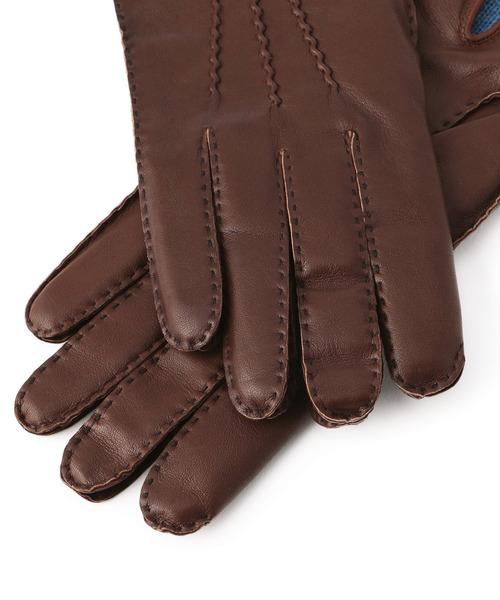 DENTS(デンツ)の「DENTS / ヘアシープカシミアライニンググローブ(手袋)」 詳細画像