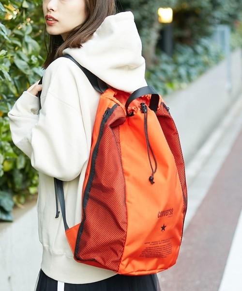 CONVERSE TOKYO(コンバーストウキョウ)の「ナイロンメッシュバックパック(バックパック/リュック)」|オレンジ