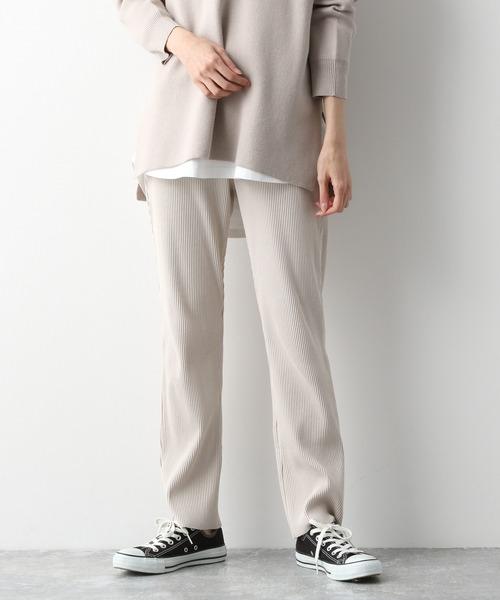 GLOBAL WORK(グローバルワーク)の「セルフ裾カットリブパンツ/893281(その他パンツ)」|オフホワイト