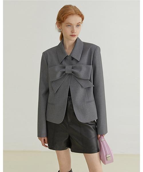 【Fano Studios】【2021AW】Big ribbon suits jacket FQ21W056