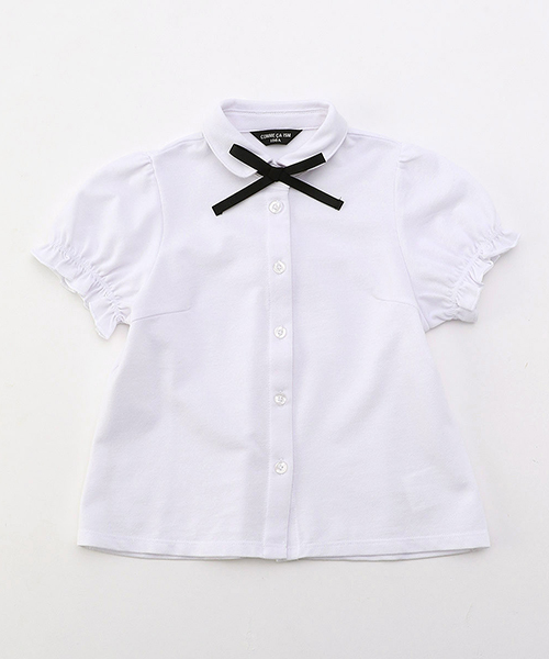 リボンタイ付き 半袖ブラウス (100cm~130cm)