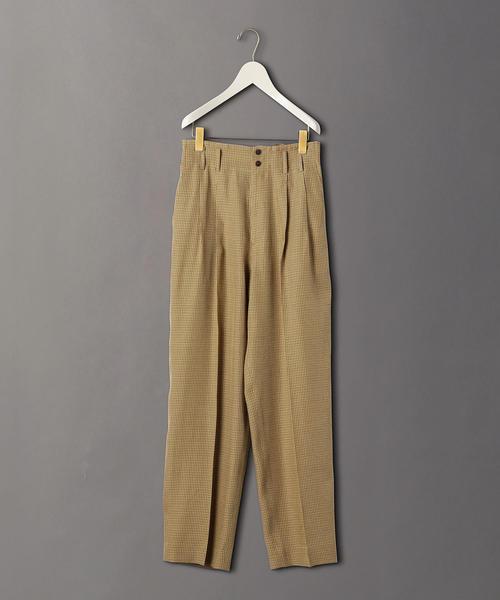 <6(ROKU)>CHECK TUCK PANTS/パンツ