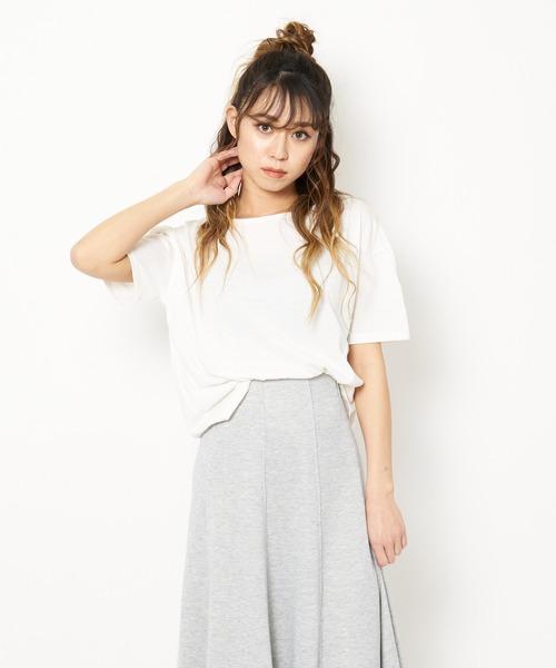 【ZOZO限定】バックドレープTシャツ