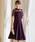 Fashion Letter(ファッションレター)の「レース切り替えロング 結婚式ワンピース パーティードレス(ドレス)」|パープル