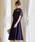 Fashion Letter(ファッションレター)の「レース切り替えロングドレス/成人式 同窓会や謝恩会に 結婚式ワンピース・パーティードレス(ドレス)」 ネイビー