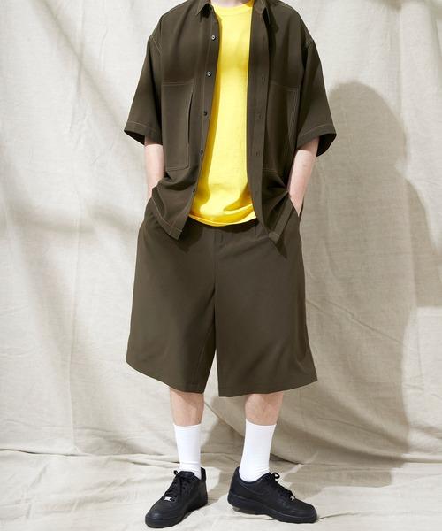 ブライトポプリン リラックス 2タックワイドショーツ EMMA CLOTHES 2021 SUMMER