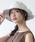 milsa(ミルサ)の「【milsa】 WASHED ADVENTURE HAT/【ミルサ】ウォッシュド アドベンチャー フェス ハット(ハット)」|ライトグレー