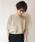 AZUL ENCANTO(アズールエンカント)の「【洗濯機で洗える】【日本製】ホールガーメントボートネックニットプルオーバー(ニット/セーター)」|ベージュ