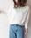 AZUL ENCANTO(アズールエンカント)の「【洗濯機で洗える】【日本製】ホールガーメントボートネックニットプルオーバー(ニット/セーター)」|アイボリー