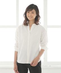 Afternoon Tea(アフタヌーンティー)のカジュアル好きにもおすすめノーカラーシャツ(シャツ/ブラウス)