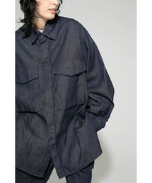 <JieDa × monkey time> DENIM PARCHT SHIRT/シャツ