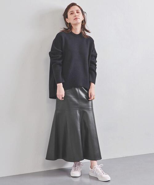 別注<CINOH(チノ)>フェイクレザー スカート