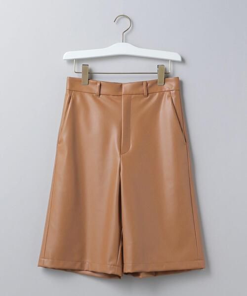 <6(ROKU)>FAKE LEATHER SHORT PANTS/パンツ