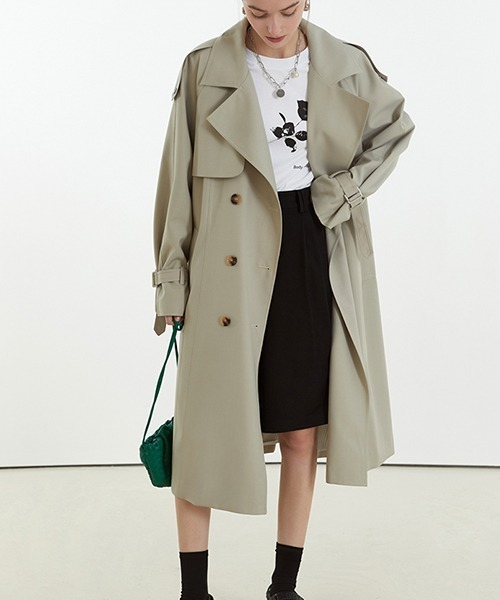 【Fano Studios】【2021SS】Oversized side button trench coat cb-3 FC21W040