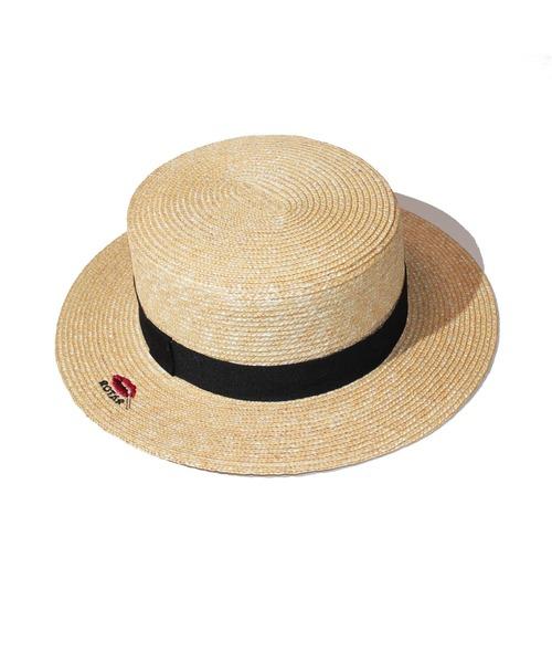 Lip Boater ストローハット カンカン帽