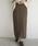 select MOCA(セレクトモカ)の「ミックスゲージニットスカート(バックスリット入りケーブルニットスカート)(スカート)」|ブラウン