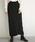 select MOCA(セレクトモカ)の「ミックスゲージニットスカート(バックスリット入りケーブルニットスカート)(スカート)」|ブラック