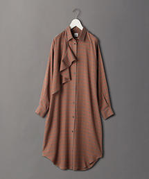 <6(ROKU)>CHECK SHIRT DRESS/ワンピース