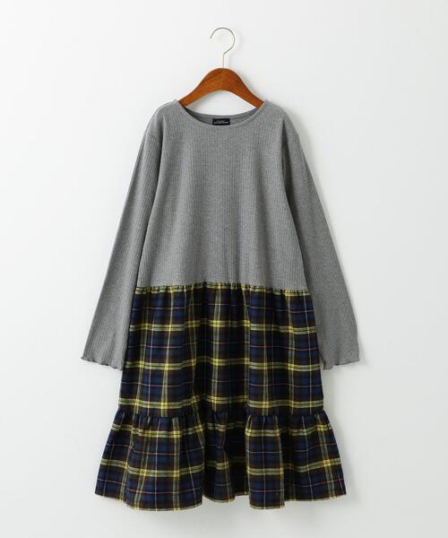 【ジュニア】GLR ティアードコンビワンピース