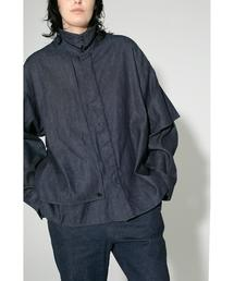 <JieDa × monkey time> DENIM FLAP SHIRT/シャツ