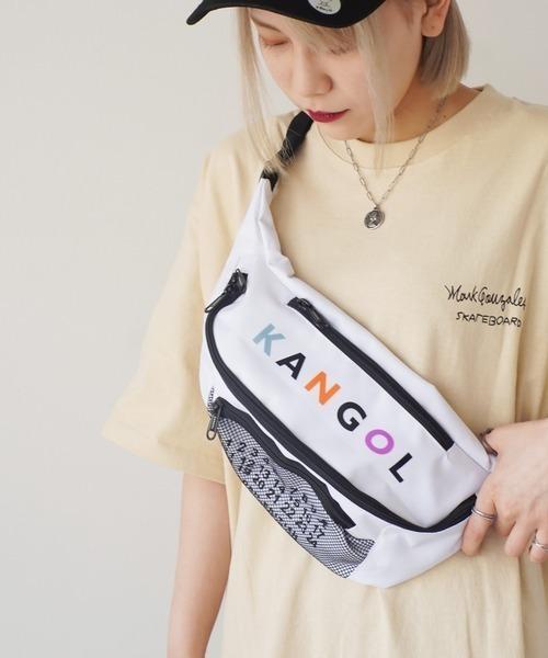 KANGOL(カンゴール)の「【 KANGOL / カンゴール 】 ナンバー プリント ウエストバッグ(ボディバッグ/ウエストポーチ)」|ホワイト