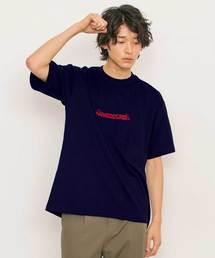 【John UNDERCOVER】STUDIOUS限定ロゴ刺繍オーバーサイズTEE(Tシャツ/カットソー)