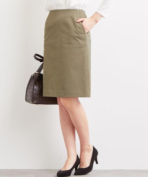 [手洗い可能/ピケ]◆D セミタイト スカート