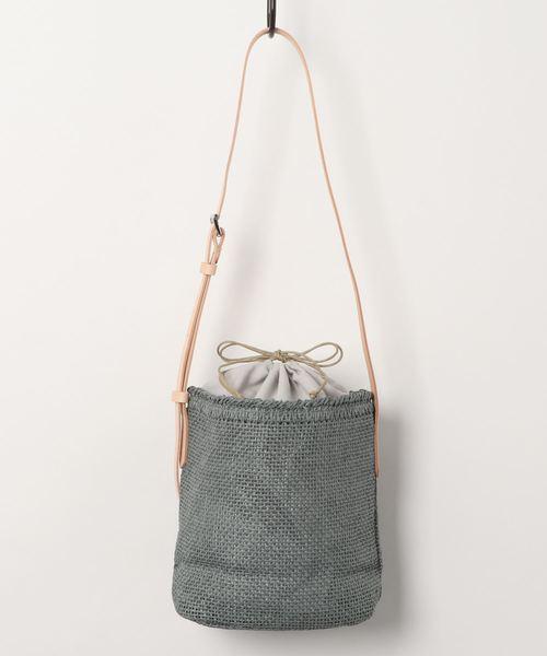 カラフル雑材ショルダーバッグ