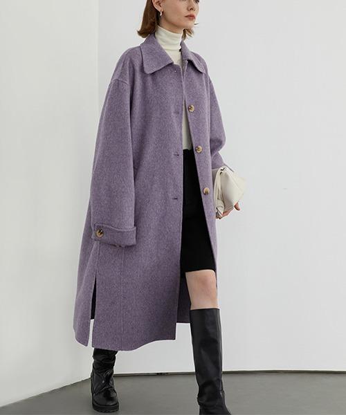 【Fano Studios】【2021AW】Australian wool river bal collar coat