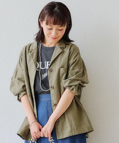 SC オープンカラー シャツ ジャケット