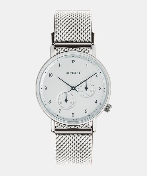KOMONO 'CRAFTED' The Walther - Silver Mesh