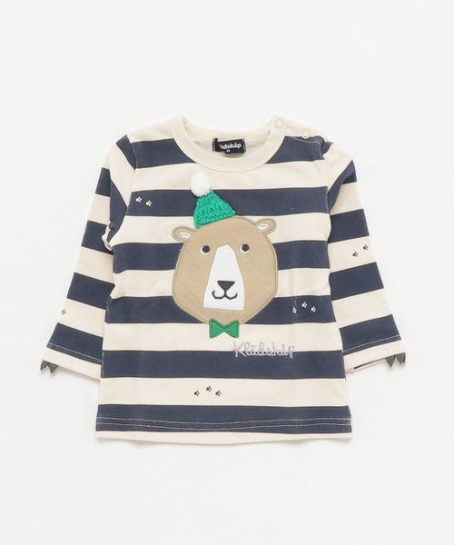 トラ&クマ ボーダー長袖Tシャツ
