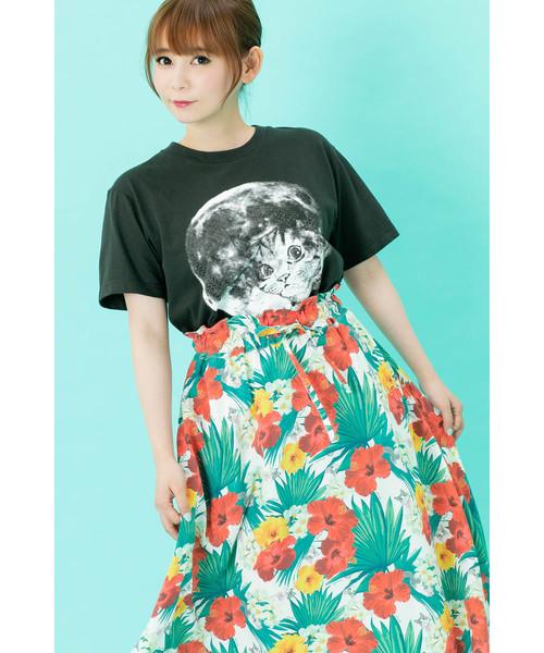 【しょこたん着用】<UNISEX>mmts / フルムーン Tシャツ