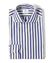 LUIGI BORRELLI(ルイジボレッリ)のLUIGI BORRELLI / ACHILLE ロンドンストライプ ワイドカラーシャツ(シャツ/ブラウス)