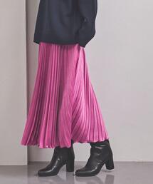 <UNITED ARROWS> POWDERY/STN アコーディオンプリーツ スカート W