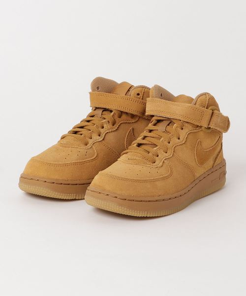 NIKE FORCE 1 MID LV8 (PS) (WHEAT/WHEAT-GUM LIGHT BROWN) 【SP】