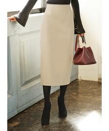 STYLE DELI(スタイルデリ)の厚地ポンチ82cm丈ペンシルスカート(スカート)