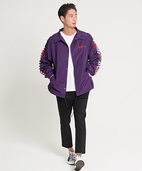 バラ刺繍コーチジャケット / CASS19-01