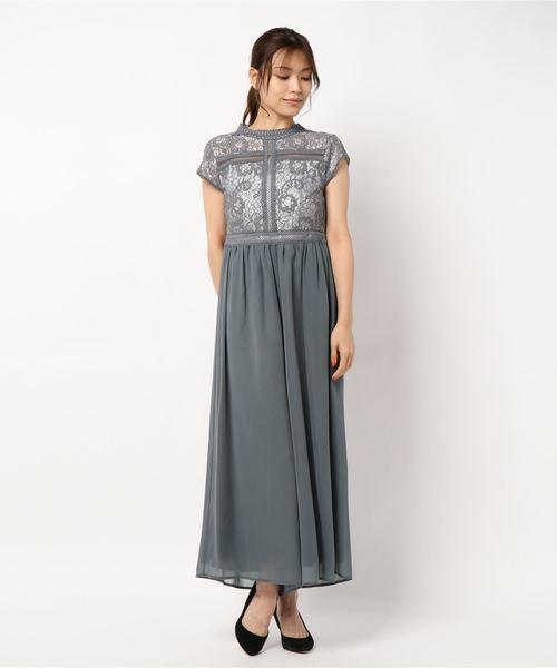 最愛 刺繍模様柄レース切り替えロンパースドレス, オーダースーツHANABISHI 7b648f6f