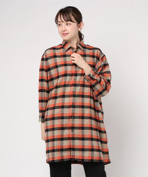 INDIVIDUALIZED SHIRTS / インディビジュアライズドシャツ ワイドシャツワンピース WIDE ONE PIECE