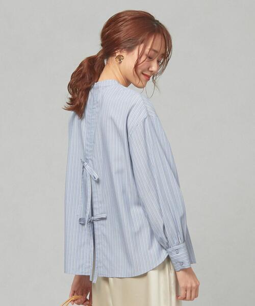 <closet story>CSC バックリボン ストライプシャツ