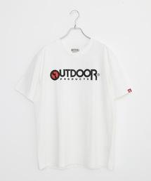 ひんやり接触冷感素材使用UVカット機能付きロゴプリントTシャツホワイト