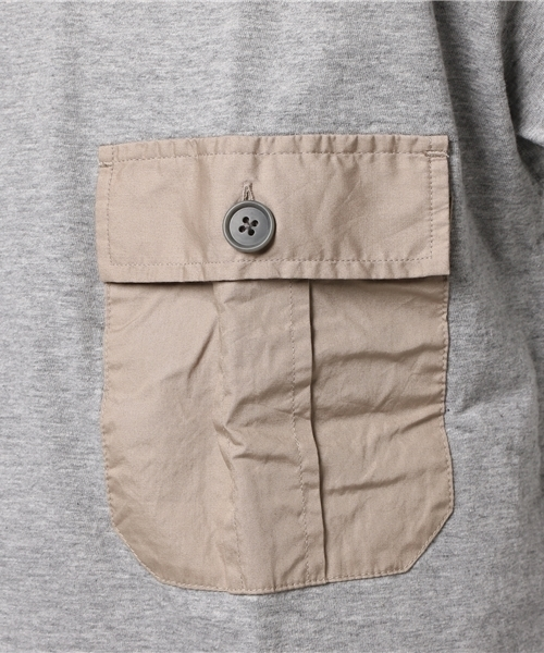 <ADITIONAL>Vネック ポケットT/ V-neck cloth Pocket T