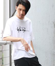Confirm(コンファーム)のConfirm / コンファーム ハンドライト刺繍Tシャツ(Tシャツ/カットソー)