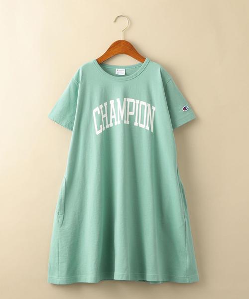 【ジュニア】〔別注〕CHAMPION(チャンピオン)ロゴワンピース