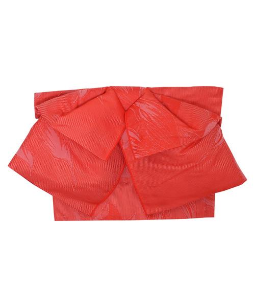 自然な形の作り帯 兵児帯 リボンタイプ 浴衣帯 「金魚」
