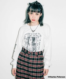 X-girl(エックスガール)のX-girl × Charles Peterson PHOTO L/S TEE(Tシャツ/カットソー)