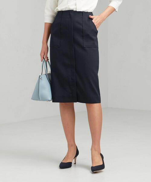 [手洗い可能] ◆D エアレット ダブルクロス タイト スカート